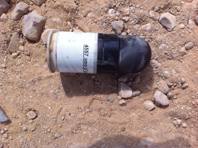 Sponge bullet that was shot in Wadi an-Na'am
