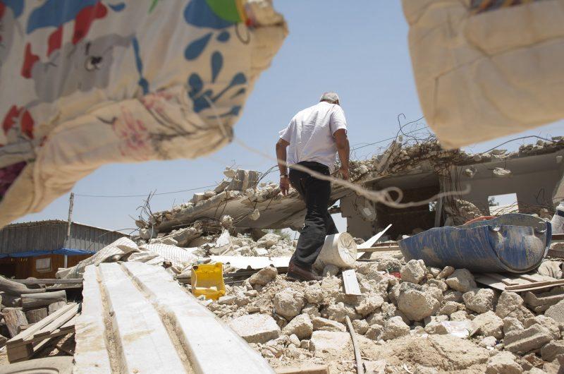 House ruins in Khirbat al-Batl