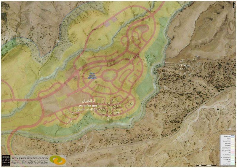 מפה - חירן ואום אל-חיראן