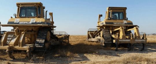 JNF tractors in al-Araqib